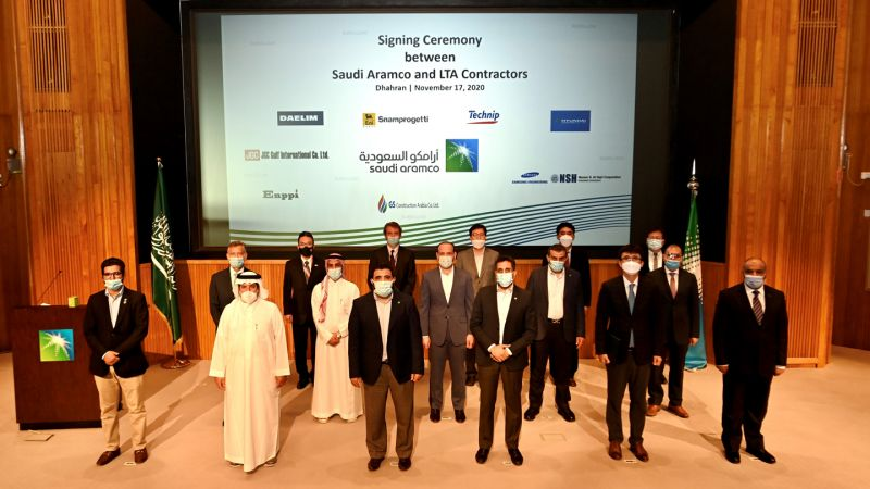 Signing ceremony of the LTA agreements (courtesy of Aramco's website)